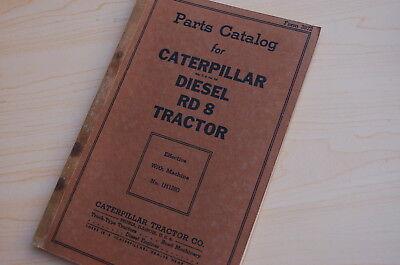 Caterpillar Rd8 Tractor Crawler Dozer Parts Manual Book Catalog Vintage Cat List
