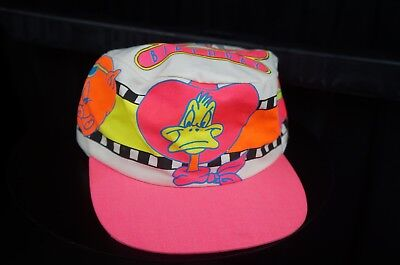 Rare Vintage DORFMAN Looney Tunes 50th Birthday 1986 Stretch Fitted Hat Cap 90s (50th Birthday Hats)
