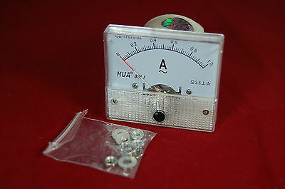 AC 1A Analog Ammeter Panel AMP Current Meter 85C1 1A AC directly connected ()