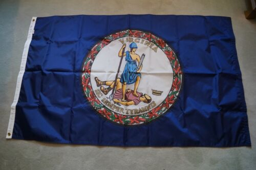 """NEW """"FLAGSOURCE"""" STATE FLAG """"VIRGINIA"""" 3 X 5 -  CANVAS HEADER & BRASS GROMMETS"""