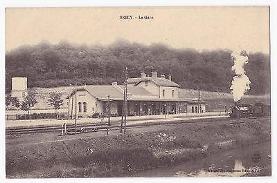 AK Bahnhof  von --Briey-- mit einfahrenden Zug um 1914