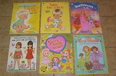 5 VINTAGE UNUSED PAPER DOLL BOOKS BABY TENDER LOVE THIS THAT STAR PRINCESS MORE