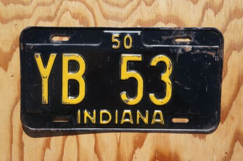 1950 Indiana License Plate # YB  53