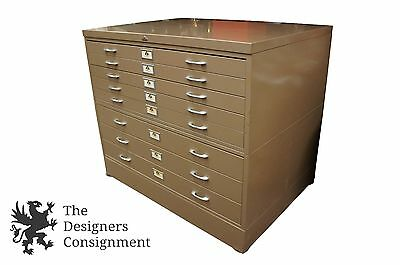 47  Ase All Steel Equipment Industrial Blueprint Map Filing Cabinet Art Storage