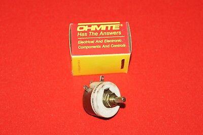 Ohmite RHS100 Wirewound Rheostat 100 Ohm Panel Mount NOS New
