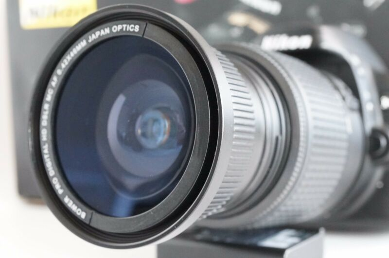 Wide Angle Macro Fisheye lens for Nikon Digital AF-S DX D7100 D7000 & 18-55mm d