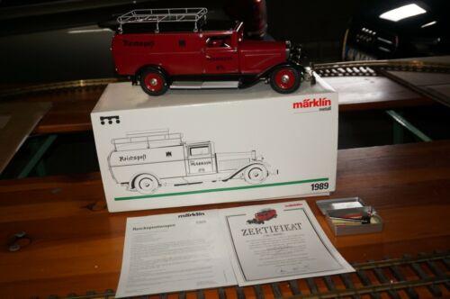 "RF10] Märklin 1989 Gauge 1 Model Car German "" Reichspost "" Boxed Unrecorded"