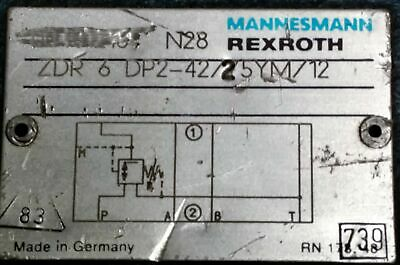 Rexroth ZDR6DP2-42/25YM/12 Relief Valve