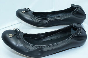 Gucci-GG-Eiffel-Nappa-Charlotte-Ballerina-Ballet-Black-Flats-Shoes-Size-36-5-NIB