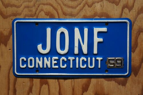 1959 Connecticut Vanity License Plate - JONF