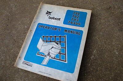Bobcat 741 742 742 Skidsteer Loader Owner Operator Maintenance Manual Operation