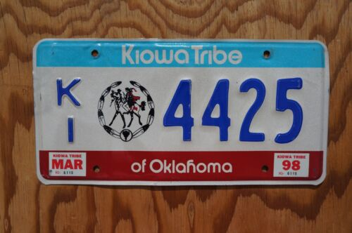 1998 KIOWA TRIBE of Oklahoma License Plate # 4425