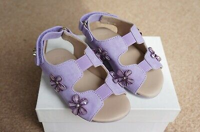 YOUNG VERSACE GIRL LILAC SUEDE SANDALS 22 5.5