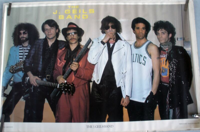 RARE J GEILS BAND 1981 VINTAGE ORIGINAL MUSIC POSTER