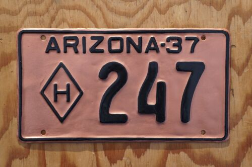 1937 Arizona License Plate