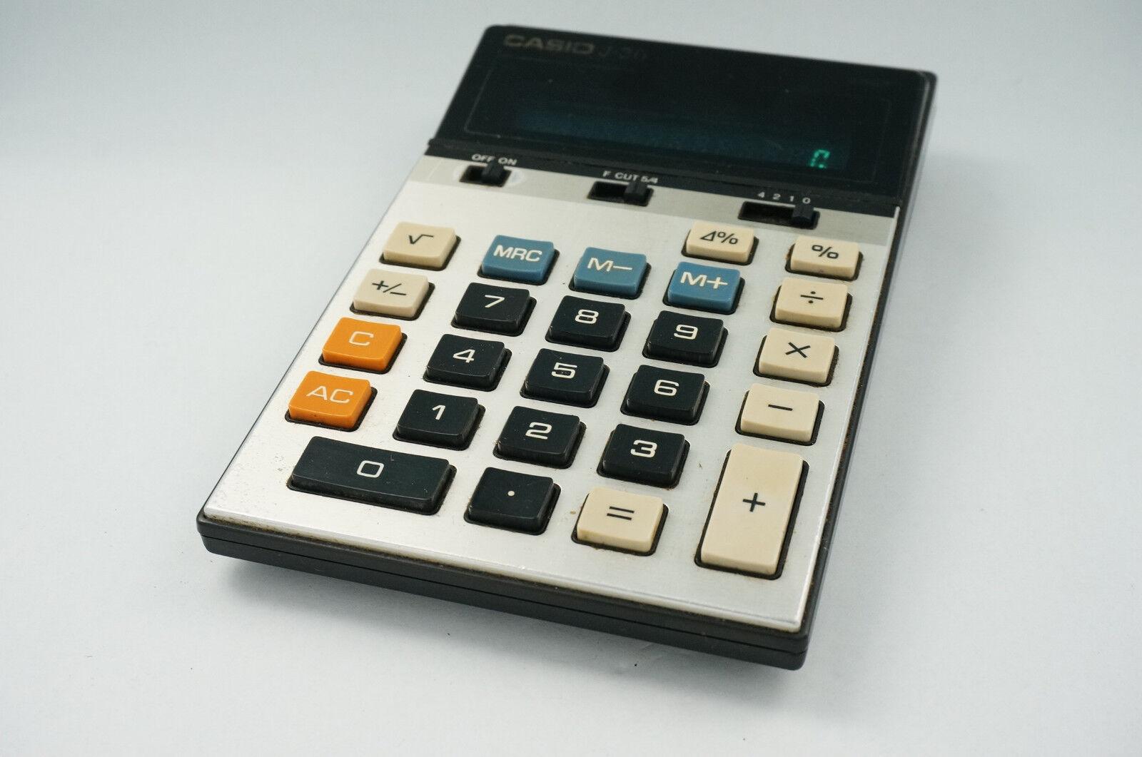 CASIO J30 vintage calculator
