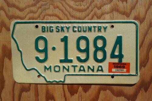 1968 1969 Montana License Plate # 9 - 1984  -  High Quality