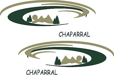 2 Chaparral mountain LG scene RV decals graphics trailer camper coachman decal
