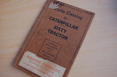 Caterpillar Sixty Tractor Crawler Dozer Parts Manual Book Catalog Vintage 60 Pa