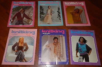 LOT OF 6 KNITKING MAGAZINES 1978 & 1979 VOL 15 NO 1 2 3 4 5 & 6 KNITTING VINTAGE