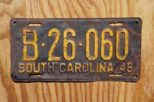 1948 South Carolina Passenger License Plate