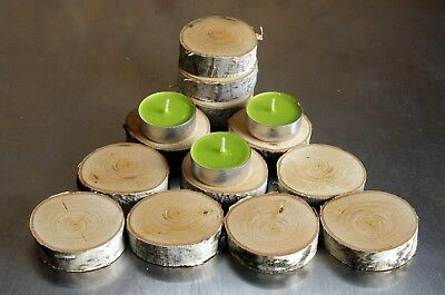 12 Silver Birch 5.5 cm 2'' WOOD LOG BARK SLAB SLICE Wedding Coaster Rustic Decor