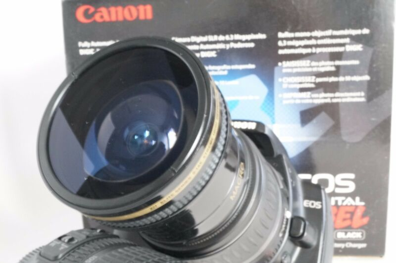 Ultra Wide Angle Macro Fisheye Lens for Canon Eos Digital Rebel & T6i 18-55 STM