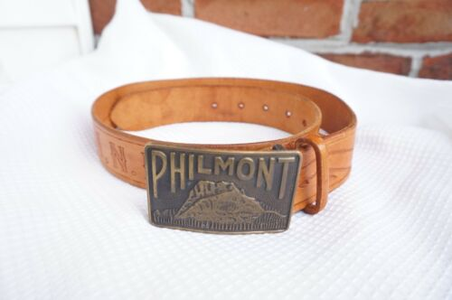 Philmont Cimarron NM Vintage Belt & Buckle Size 32 NEW