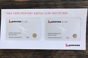 2x Qantas lounge club expiry Dec17 Gosford Gosford Area Preview