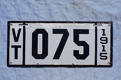 1915 Vermont Porcelain Dealer License Plate # 75