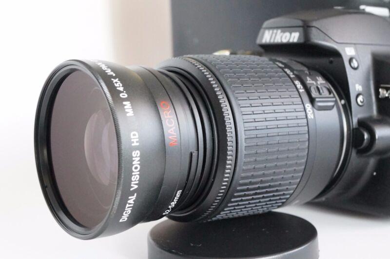 Wide Angle Macro Close Up  Fisheye Lens for Nikon D5300 D5200 D5000 D50 DCPL