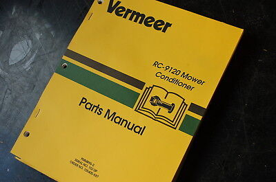 Vermeer Rc-9120 Disc Mower Conditioner Parts Manual Book Catalog List Spare Hay