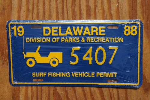 1988 Delaware SURF FISHING License Plate # 5407