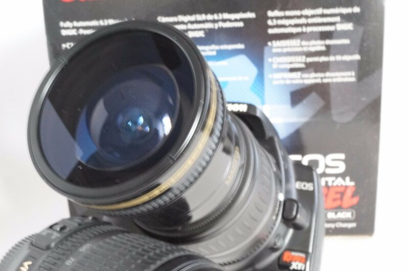 Ultra Wide Angle Macro Fisheye Lens for Canon Eos Digital Rebel & 18-55 IS & STM