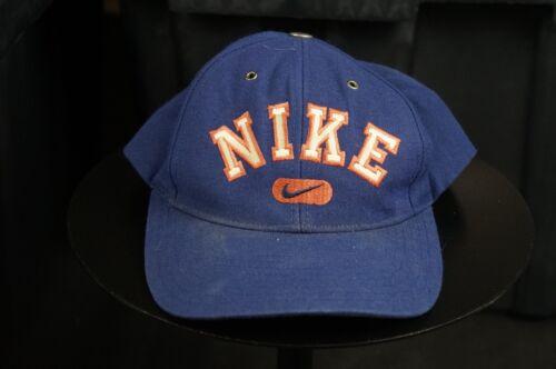 8d8fb9ed4 Details about Rare Vintage NIKE Spell Out Swoosh Snapback Hat Cap 90s Hip  Hop Retro Blue