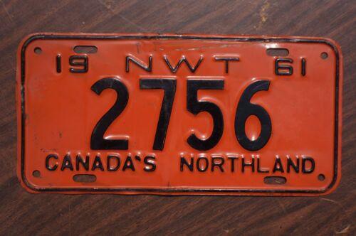 1961 NWT Northwest Territories License Plate # 2756