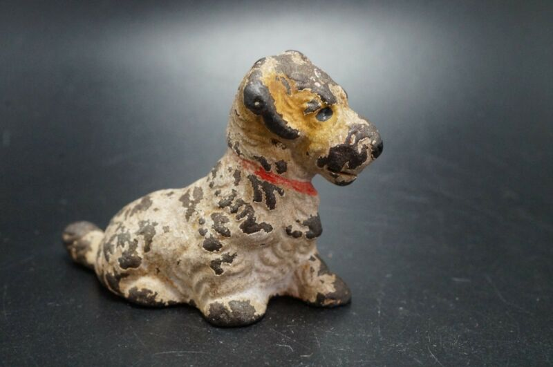 Vintage HUBLEY Cast Iron SEALYHAM TERRIER Puppy Dog Card Holder