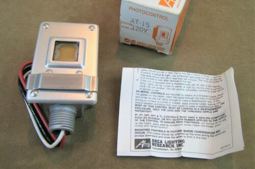 NOS! AREA LIGHTING RESEARCH USA NO.AT15 PHOTOCONTROL SWITCH FOR OUTDOOR LIGHTING