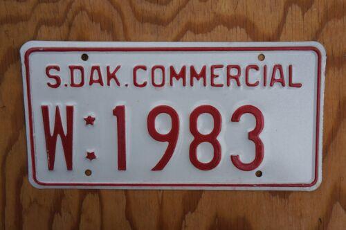South Dakota License Plate # W : 1983 With Stars