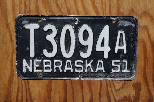 1951 Nebraska License Plate # T3094