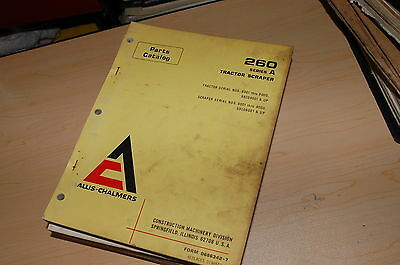 Allis Chalmers 260 A Tractor Scraper Parts Manual Book List Catalog Spare Series