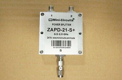 Mini-circuits Zapd-21-s 0.5-2.0ghz 10w Sma 2 Ways Dc Pass Power Splitter