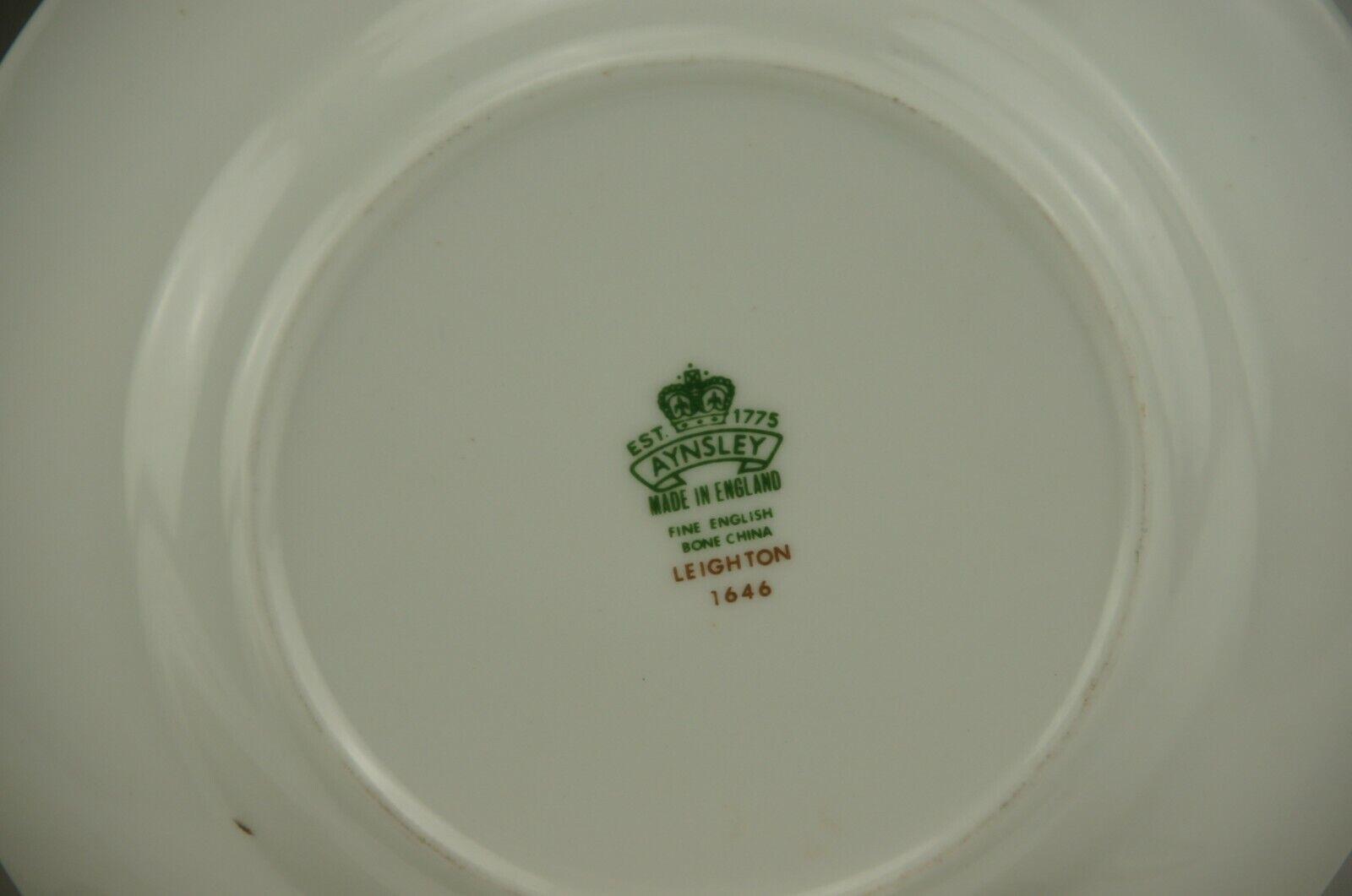 Aynsley Leighton England Cobalt Set 4 Bread Plates B - $49.99