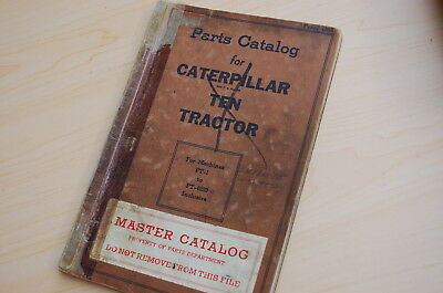 Caterpillar Ten Tractor Crawler Dozer Parts Manual Book Catalog Vintage 10 Pt 1