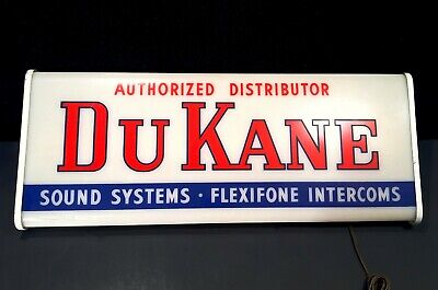 Vintage 1940's 50's DuKane Dealer Advertising Sign Neon Products Ohio Works RARE