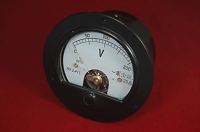Ac 0-200v Round Analog Voltmeter Voltage Panel Meter Dia. 90mm Directly Connect