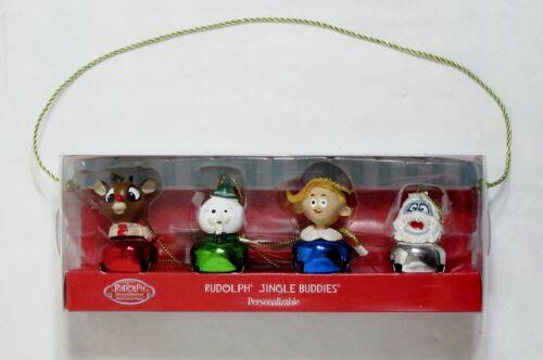 "NIB SET OF 4 RUDOLPH HERMEY BUMBLE CHRISTMAS JINGLE BELL BUDDIES 2"" H ORNAMENTS"