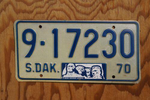 1970 South Dakota MT RUSHMORE License Plate - Nice Original