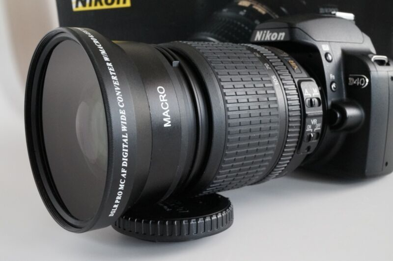 67 Wide Angle + Macro Lens for Nikon 18-140mm VR AF-S DX NIKKOR D7100 7000 5300