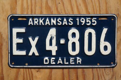 1955 Arkansas DEALER License Plate